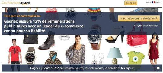 Affiliation avec Amazon Partenaires Programme