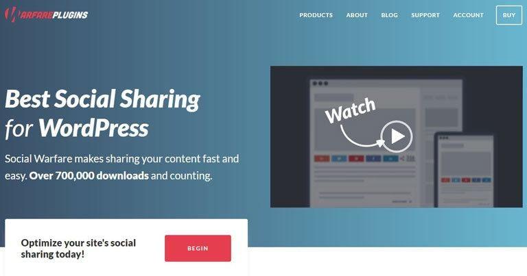 Combien coute un blog - Optimiser le partage social warfare
