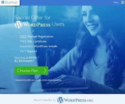 Hébergement WordPress BlueHost