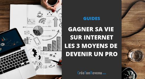Gagner sa vie sur Internet - Les 3 moyens pour devenir un Pro