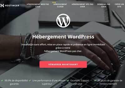 créer un blog avec Hostinger hebergement wordpress