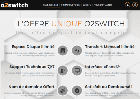 Héberger son site chez O2switch