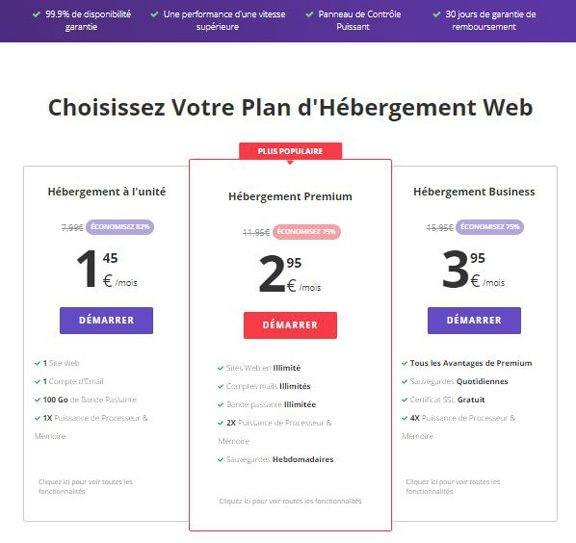 Hébergement de sites web avec Hostinger
