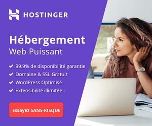 Hébergement Web Hostinger - Idéale pour les débutants et les pros.