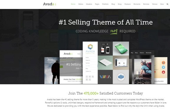 Les 10 meilleurs thèmes WordPress 2019 - Avada