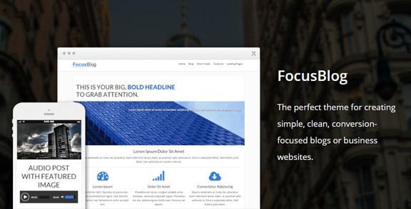 Les plus beaux thèmes WordPress Premium 2019 - Focus Blog